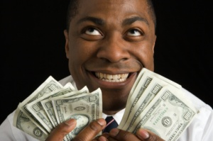 Man relishes sudden money!